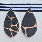 Leather Earrings - Large