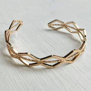 Gold Open Cut Metallic Bracelet