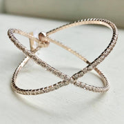 Rose Gold Rhinestone Neutron Inspired Bracelet