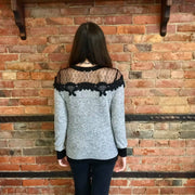 Lace Top Sweater