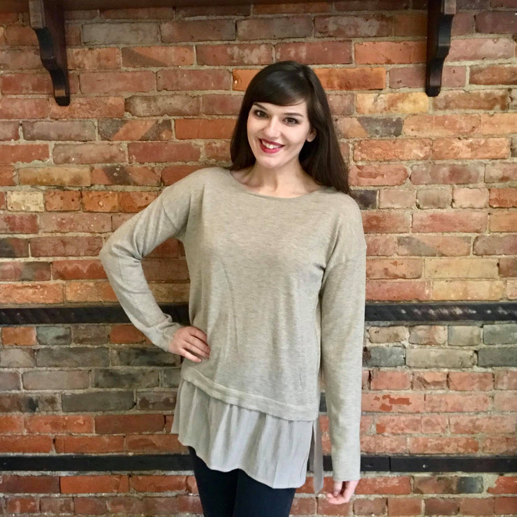 Layered Hem Sweater Tunic