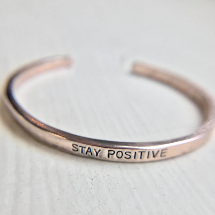 Stay Positive Metal Cuff