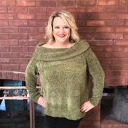Olive Chenille Pullover Sweater