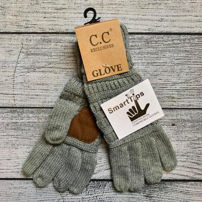 Gray Gloves-UNLINED