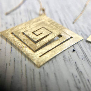 Square Maze Earring