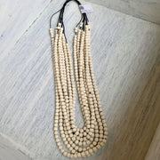 Ivory Multi Strand Beaded Necklace