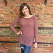Dusty Rose Textured Knit Top