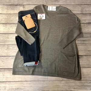 Gray Sweater Tunic