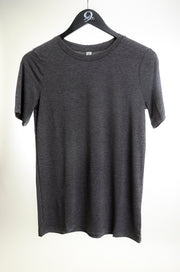 Round Neck Tee-Charcoal