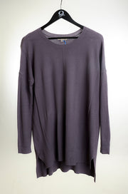 Center Seam Oversized Sweater - Purple