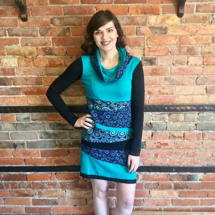 Teal Abstract Dress