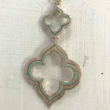 Double Quatrefoil Necklace