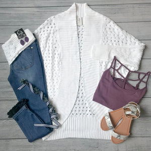 Spring Open Knit Cardigan