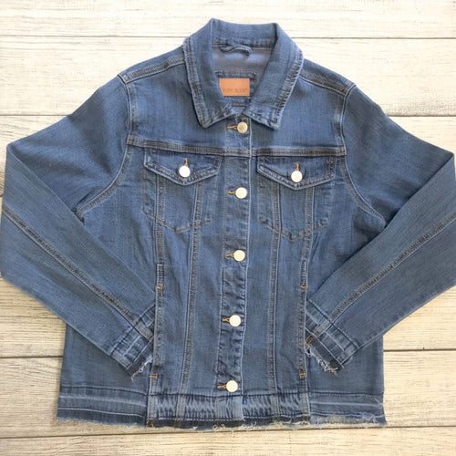 Released Hem Denim Jacket