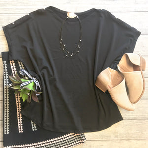 Studded Shoulder Top
