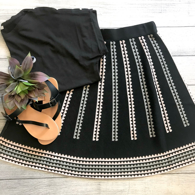 Triangle Knit Skirt
