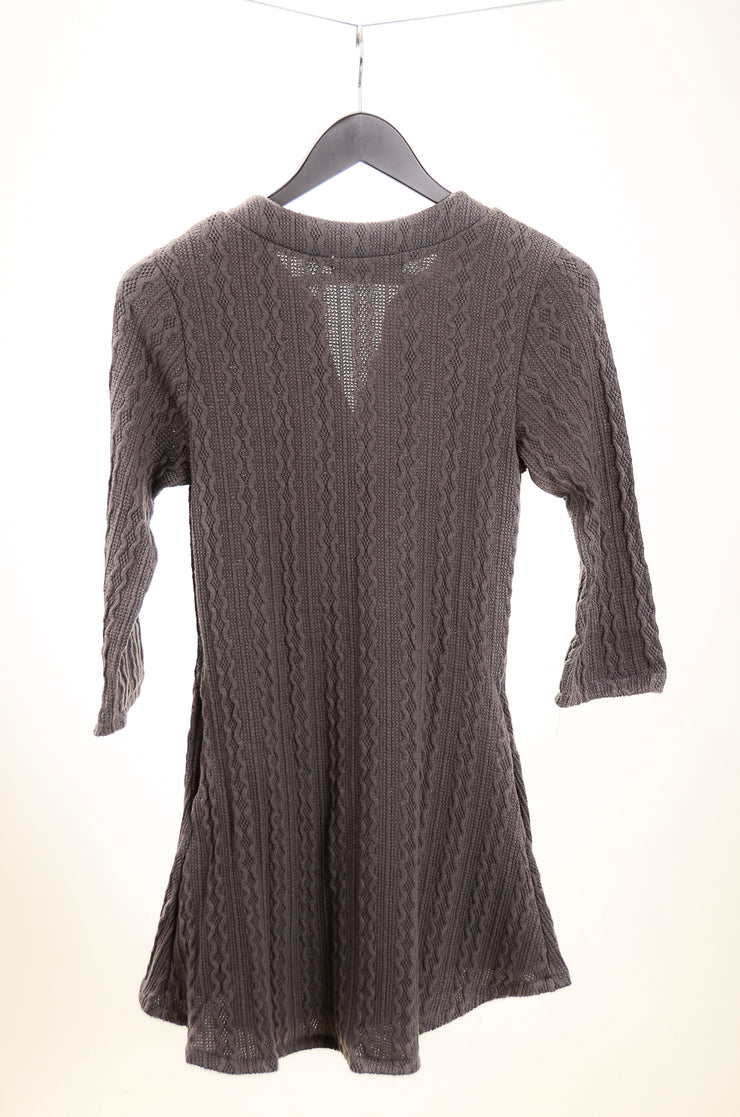 Swingy Cable Knit Sweater Tunic