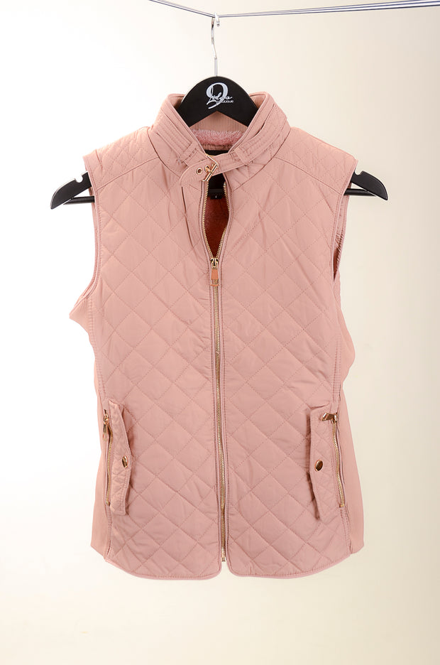 Peach Rose Quilted Vest