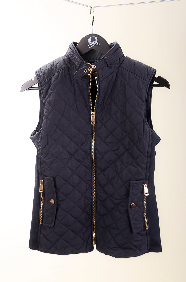 Dark Navy Quilted Vest