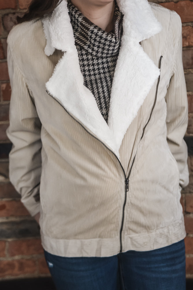 Corduroy Sherpa Lined Jacket S-2X