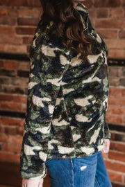 Camo Plush Quarter Zip Pullover S-XL