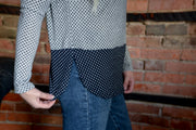 Polka Dot Contrast Sweater S-2X