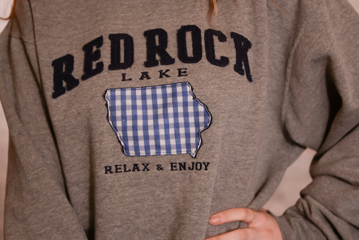 Picnic Plaid Applique Red Rock Sweatshirt XS-2X