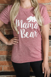 Red Mama Bear Tee S-2X-Top-9Lilas