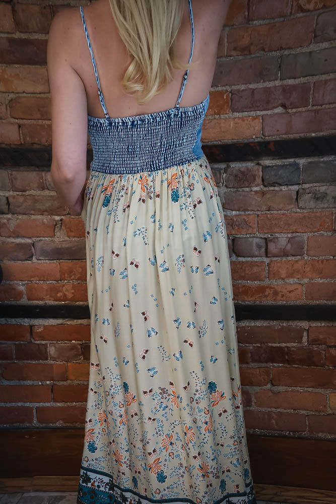 Floral Butterfly Maxi Dress S-XL