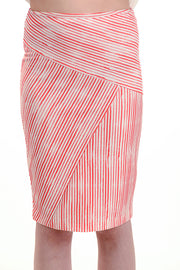 Striped Red and White Skirt