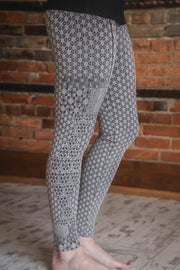 Taupe Jacquard Leggings