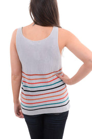 Stripe Hem Sweater Tank S-XL-Tank-9Lilas
