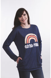 Good Vibes L/S Top S-2X-Top-9Lilas