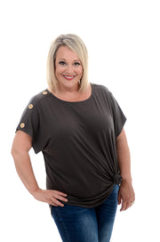 Grey Button Shoulder Top 1X-3X-zenana-9Lilas