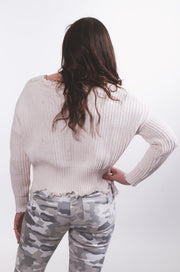 Ivory Cropped Sweater S-XL-Sweater-9Lilas