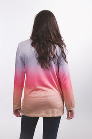 Ombre Rainbow Top XS-2X-Top-9Lilas