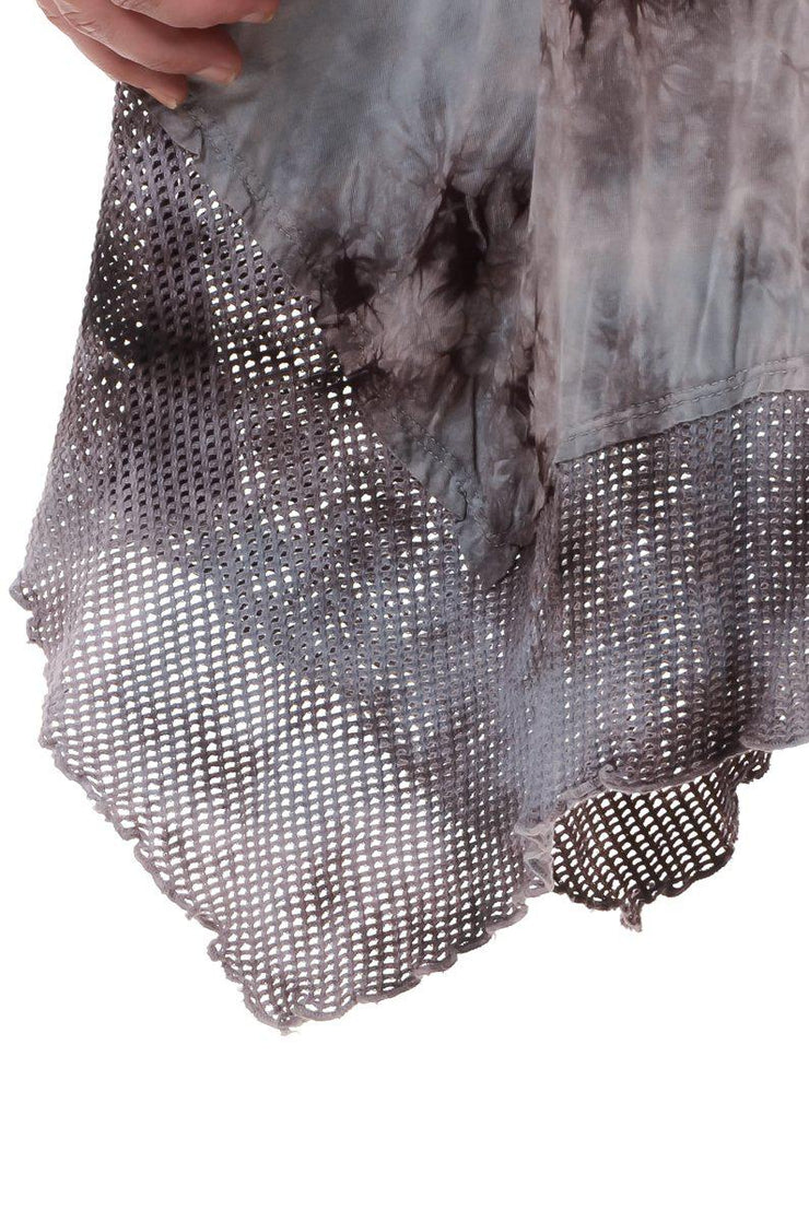 Brown Mesh Tie Dye Dress 1X-3X-Dress-9Lilas