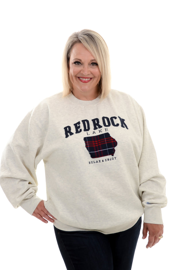 Plaid Applique Red Rock Sweatshirt XS-2X