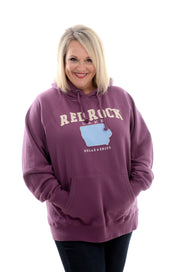 Purple Applique Red Rock Hoodie