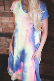 Vibrant Tie Dye Dress S-3X-Dress-9Lilas
