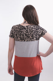Leopard & Rust Blocked Top S-2X-Top-9Lilas