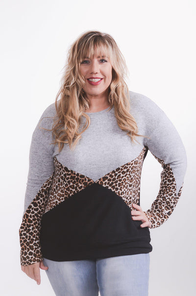 Geo Leopard Pullover XL-3X-pullover-9Lilas