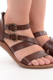 Brown Strappy Sandal-Shoes-9Lilas