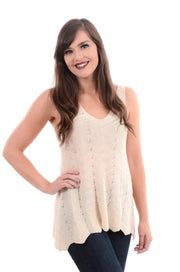 Cream Crochet Knit Sweater Tank S-XL-Tank-9Lilas