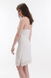 Eyelash Trim Slip Dress