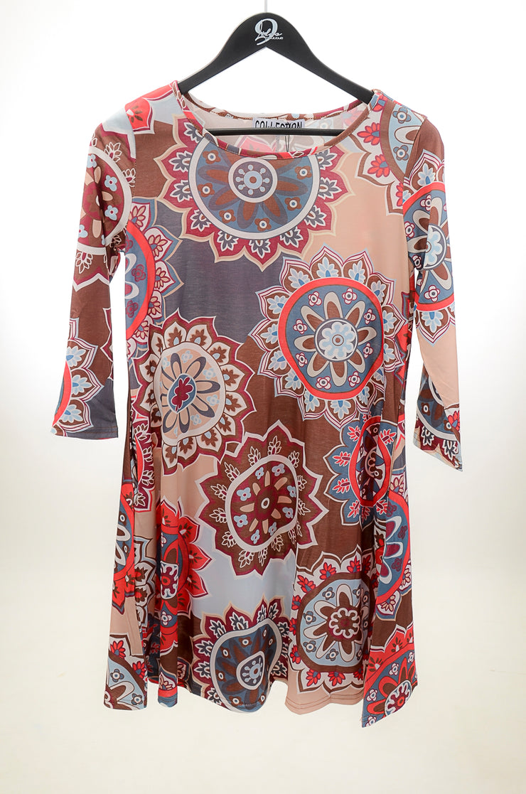 Brown Medallion Tunic