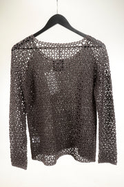 Open Mesh Sweater