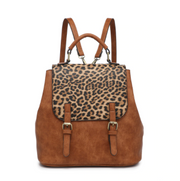 Leopard Buckle Backpack