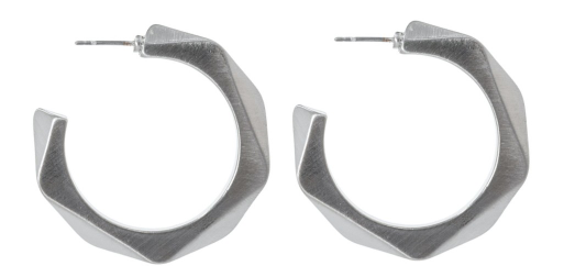 Faceted Metal Hoops