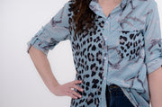 Leopard & Chain Blouse XS-2X-Bess & HJ-9Lilas